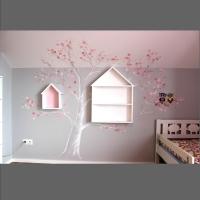 artystycznie malowane ściany- drzewo