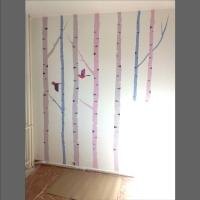 artystyczne malowane ściany- dziecięcy pokuj