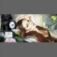 Romantyczny portret kobiety