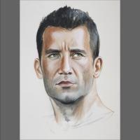portret akwarelowy mężczyzny