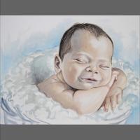 portret dziecka- akwarela