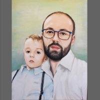 portret taty z synem