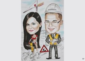 karykatura dla kierownika budowy