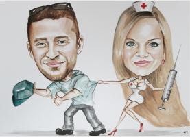 karykatura dla pielęgniarki