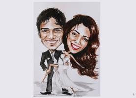 Karykatura ślubna