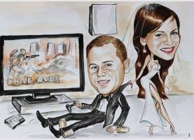Karykatura na ślub
