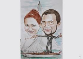 karykatura dla żeglarza
