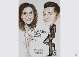 pomysł na karykaturę ślubną