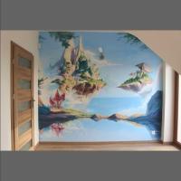 pokój dziecięcy- artystycznie malowane ściany