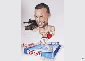 karykatura dla boksera