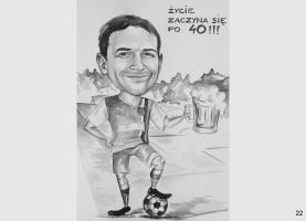 karykatura urodzinowa dla piłkarza