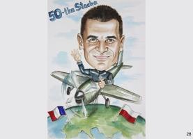 karykatura urodzinowa dla pilota