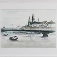 akwarela- Wawel