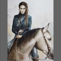 portret na koniu