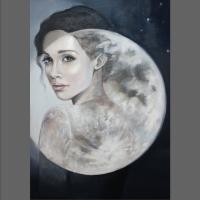 portret w pełni księżyca